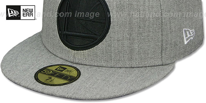 Warriors 'HEATHER-POP' Light Grey Fitted Hat by New Era