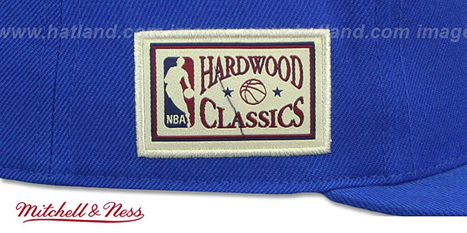 Warriors 'HWC SIDE-PATCH' Royal Fitted Hat by Mitchell and Ness