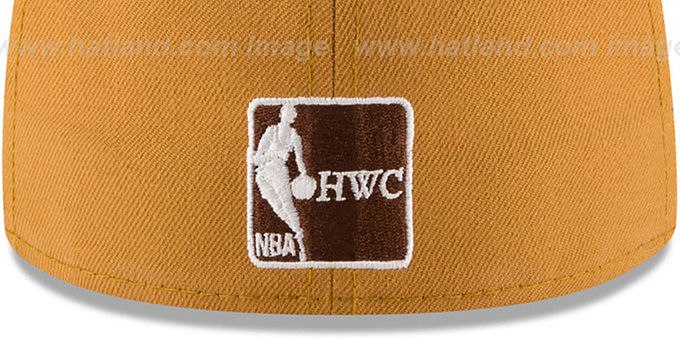 Warriors 'METAL HOOK' Wheat-Brown Fitted Hat by New Era