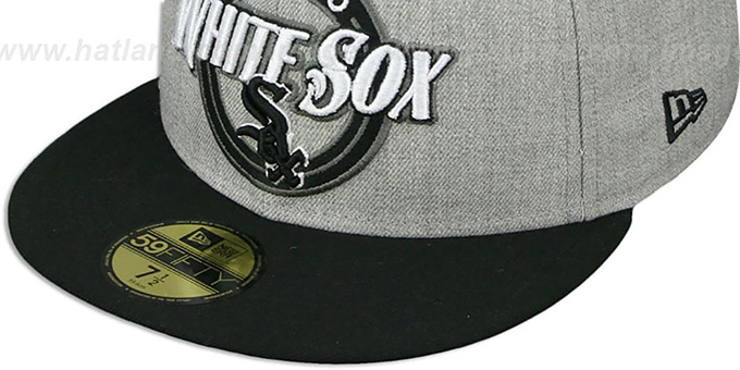 White Sox 'CIRCLE-CLOSER' Grey-Black Fitted Hat by New Era