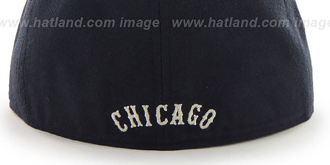 White Sox COOP 'CATERPILLAR' Navy Fitted Hat by 47 Brand