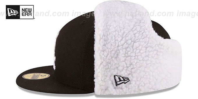 White Sox 'FLURRY-FIT DOGEAR' Black Fitted Hat by New Era