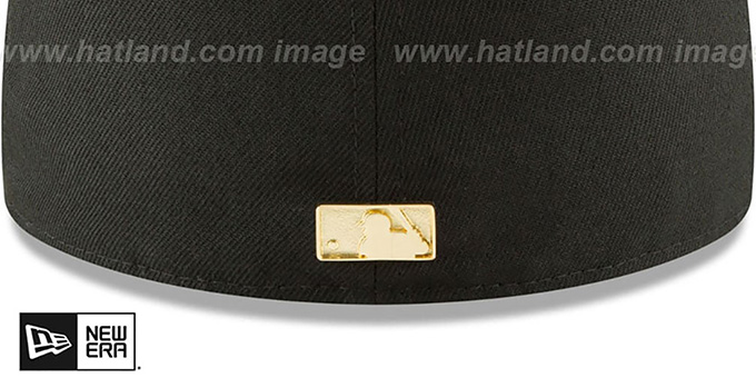 White Sox 'GOLDEN-BADGE' Black-Grey Fitted Hat by New Era