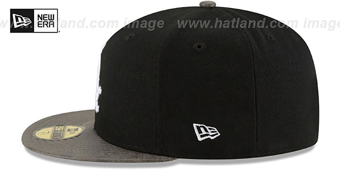 White Sox 'RUSTIC-VIZE' Black-Grey Fitted Hat by New Era