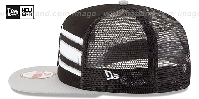 White Sox 'THROWBACK-STRIPE SNAPBACK' Black-Grey Hat by New Era