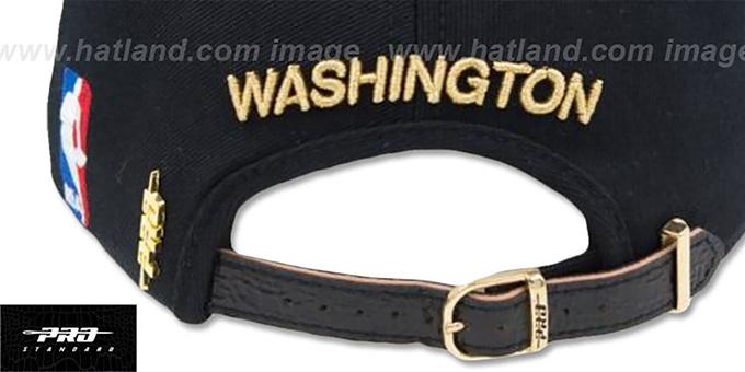 more photos 4c696 e5e23 ... Wizards  METALLIC POP STRAPBACK  Black Hat by Pro Standard