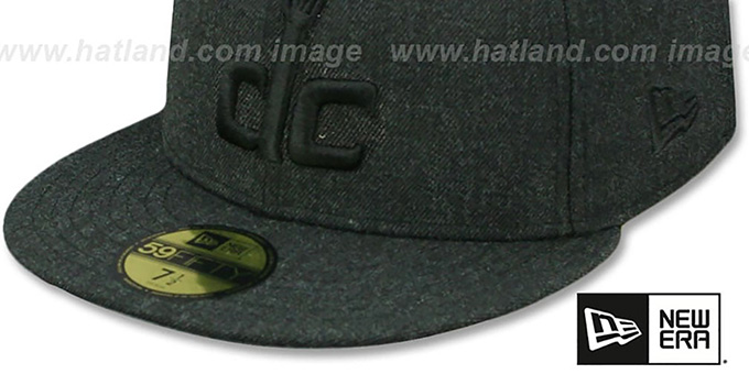Wizards 'TOTAL TONE' Heather Black Fitted Hat by New Era