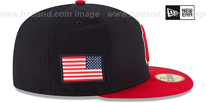Yankees 'COUNTRY COLORS' Navy-Red Fitted Hat by New Era
