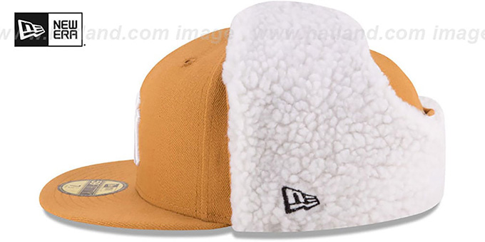 Yankees 'FLURRY-FIT DOGEAR' Wheat Fitted Hat by New Era