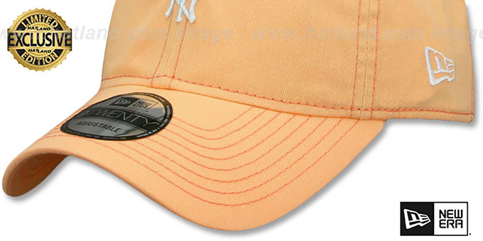 Yankees 'MINI BEACHIN STRAPBACK' Light Orange Hat by New Era