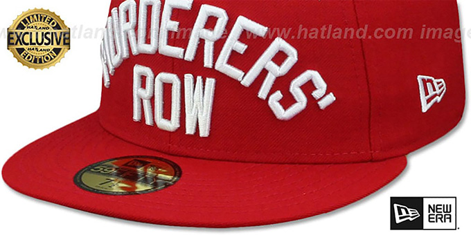 Yankees 'MURDERERS ROW' Red Fitted Hat by New Era