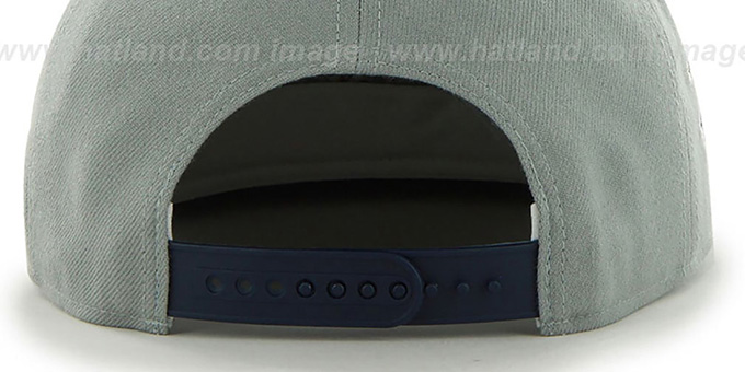 Yankees 'SURE-SHOT SNAPBACK' Grey-Navy Hat by Twins 47 Brand