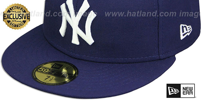 Yankees 'TEAM-BASIC' Navy-White Fitted Hat by New Era