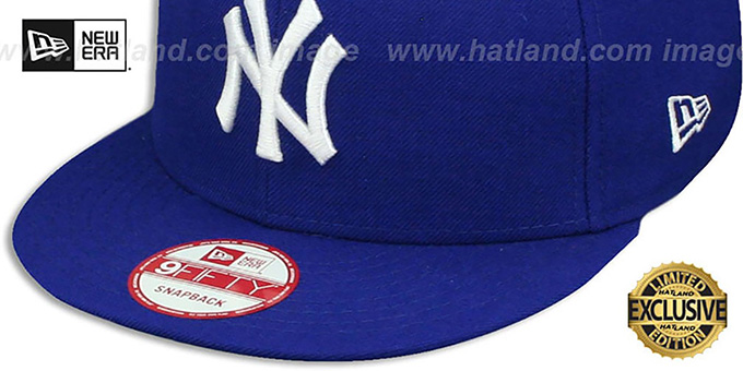Yankees 'TEAM-BASIC SNAPBACK' Royal-White Hat by New Era