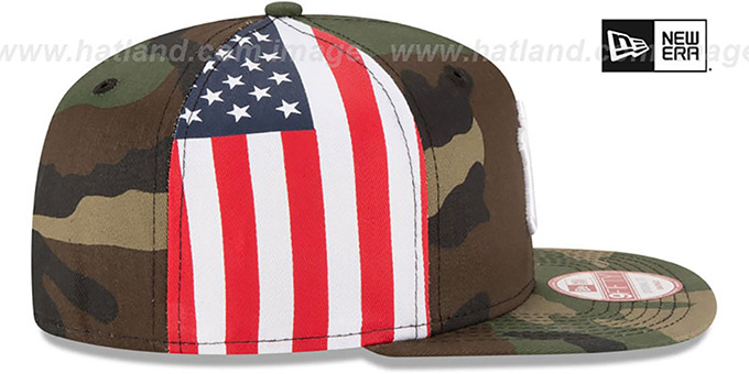 Yankees 'USA FLAG-SIDE SNAPBACK' Army Hat by New Era