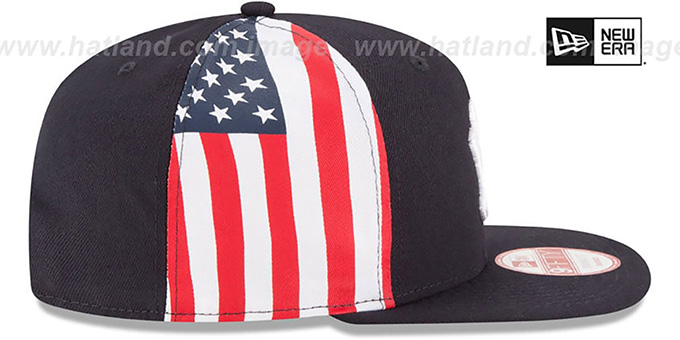 Yankees 'USA FLAG-SIDE SNAPBACK' Navy Hat by New Era