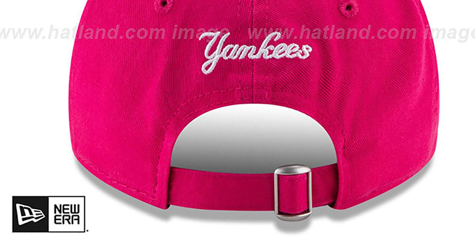 5cc03dda443 ... Yankees  WOMENS MOTHERS DAY GLIMMER STRAPBACK  Pink Hat by New Era