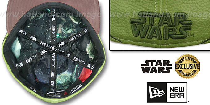 Star Wars Yoda CHARACTER FACE Fitted Hat by New Era ce02364ee964
