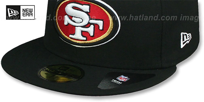 49ers 'SKY-BOTTOM' Black Fitted Hat by New Era