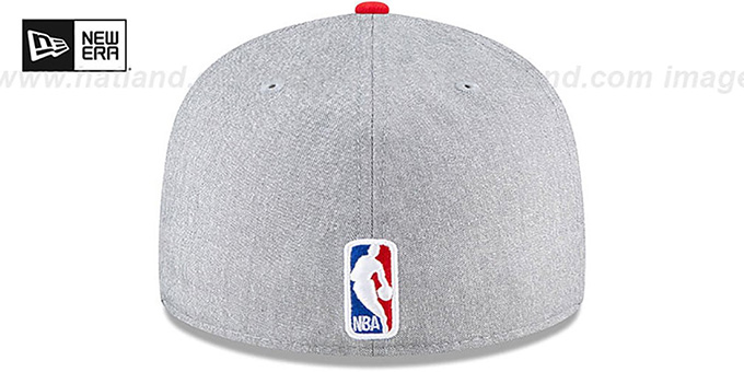 Rockets 'ROPE STITCH DRAFT' Grey-Red Fitted Hat by New Era
