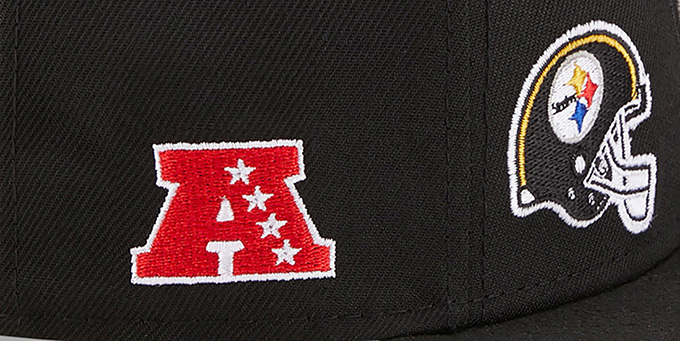 Steelers 'MULTI-AROUND' Black Fitted Hat by New Era